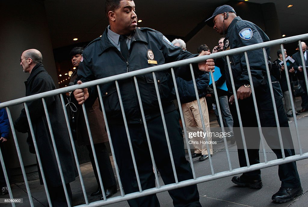 Security personnel place barricades around the job seekers standing in line for hours outside the 'Keep America Working' job fair at the Marriot Marquis Hotel in Times Square on March 5, 2009 in New York City. Thousands of job applicants showed up for the fair sponsored by the job placement service Monster.com which will tour nationally around the country. New York City has lost tens of thousands of jobs, a great percentage in the finance sector, due to the economic crisis.
