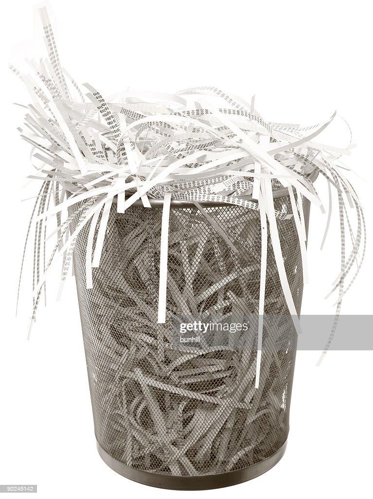 security shredding - shredded paper documents
