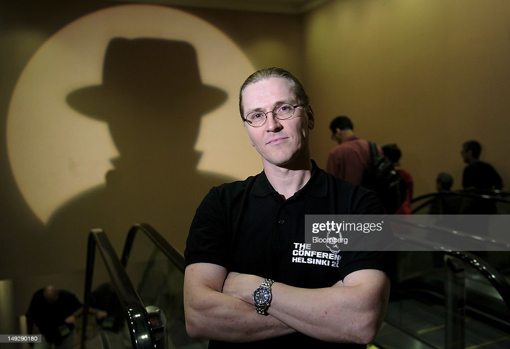 Security technology specialist Mikko Hypponen stands for a photograph during the Black Hat USA 2012 conference at Caesar's Palace resort and casino in Las Vegas, Nevada, U.S., on Wednesday, July 25, 2012. The conference brings together leaders from all facets of the information security world, from corporate and government sectors to academic and even underground researchers. Photographer: Jacob Kepler/Bloomberg via Getty Images