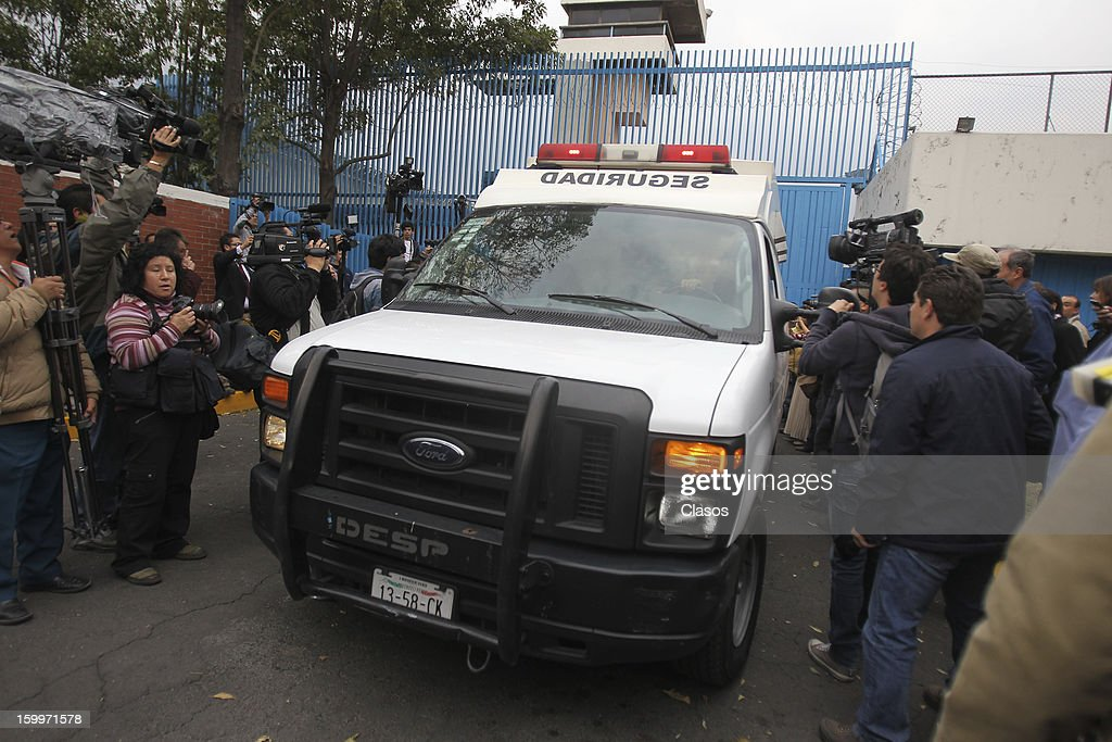 A security van transports French citizen Florence Cassez outside the Women Rehabilitation Social Center in Tepepan on January 23, 2013 in Mexico City, Mexico. The Mexican Supreme Court panel voted to release Cassez, who was sentenced to 60 years in prison for kidnapping. Cassez was arrested in 2005 and convicted of helping her Mexican then-boyfriend run a kidnap gang. The five-justice panel voted 3-2 to order Cassez released because of procedural and rights violations during her arrest.