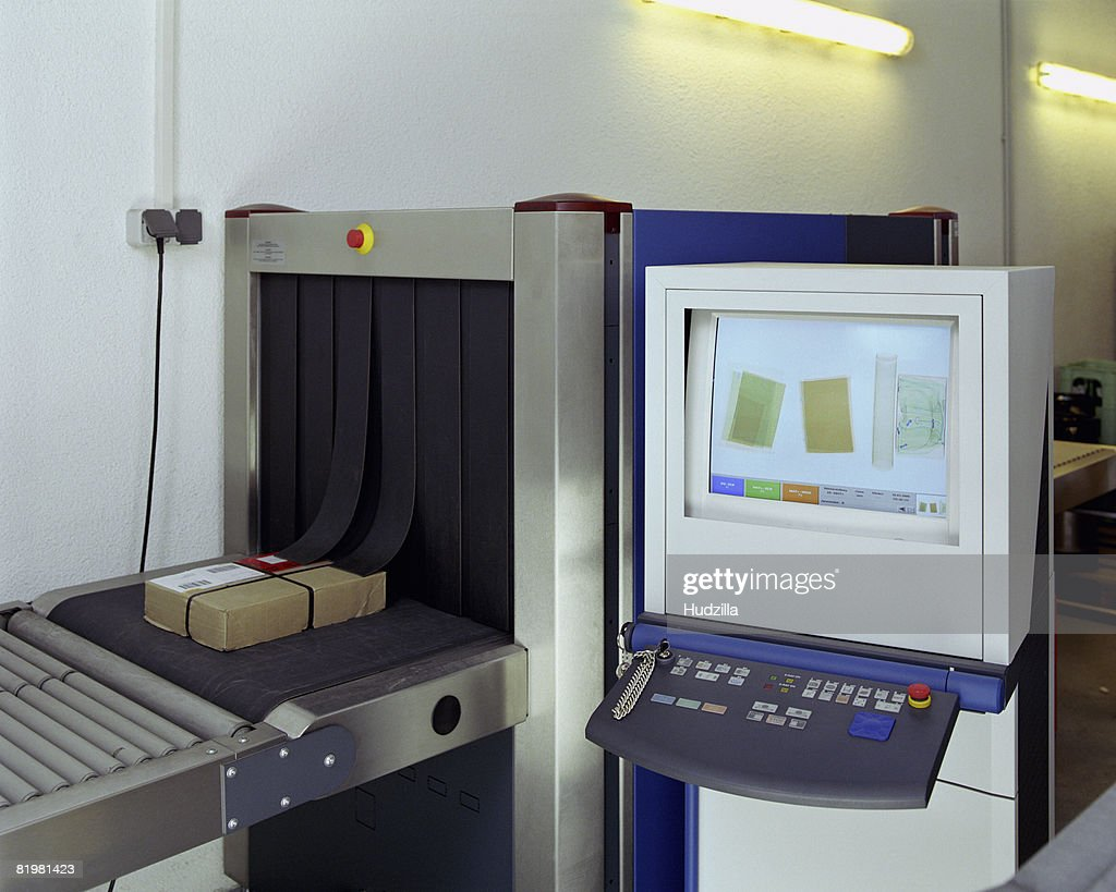 Security x-ray in mailroom