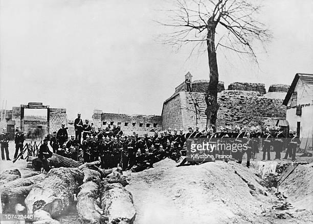 Sedan Battle Prussian Infantry At Saint Denis Fortress In France On 1870