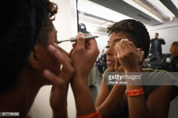 Sedeah Theophilus backstage before Amateur Night At The Apollo Super Top Dog at The Apollo Theater on November 22 2017 in New York City Photo by...