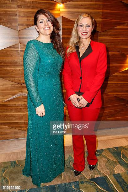 Sedef Ayguen and Ruth Moschner attend the Victress Awards Gala on 2016 in Berlin Germany