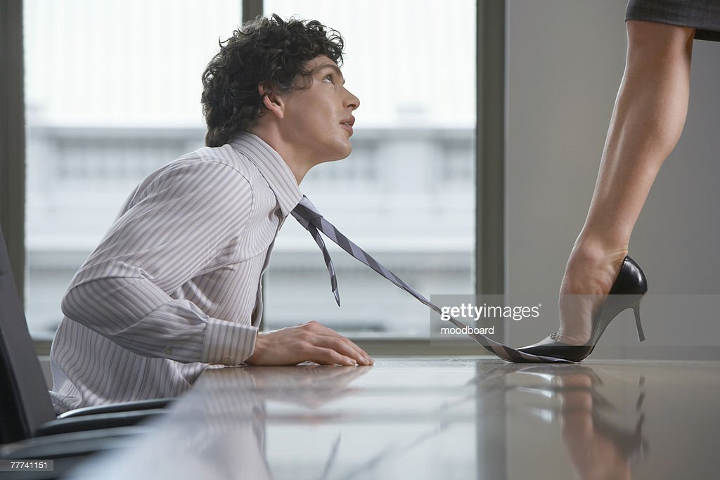 Seduction in the Workplace : Stock Photo