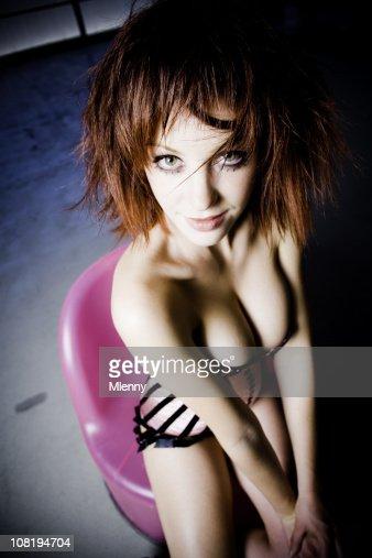 Seductive Girl in Corset