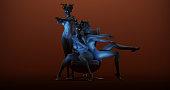 3 Seductive Medusa Sisters 3d illustration