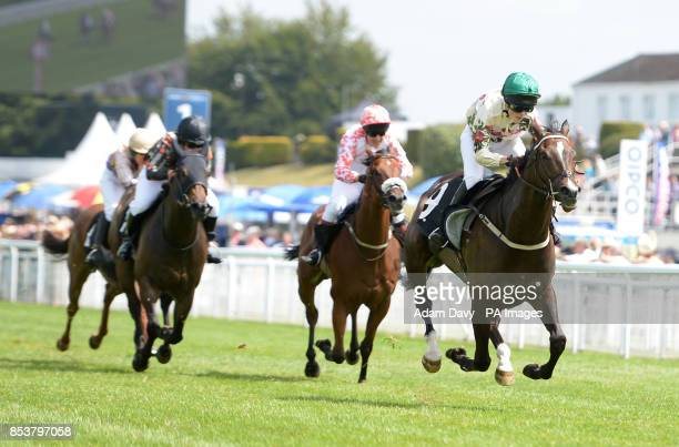See The Storm ridden by Edie Campbell wins the Magnolia Cup The Goodwood Ladies Race during day three of Glorious Goodwood at Goodwood Racecourse...