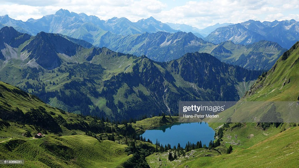 Seealpsee, Nebelhorn, Allgäu Alps, Oberstdorf