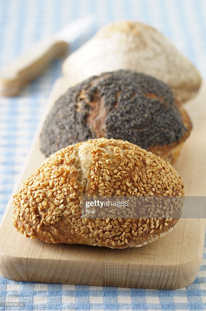 Seeded breads : Stock Photo