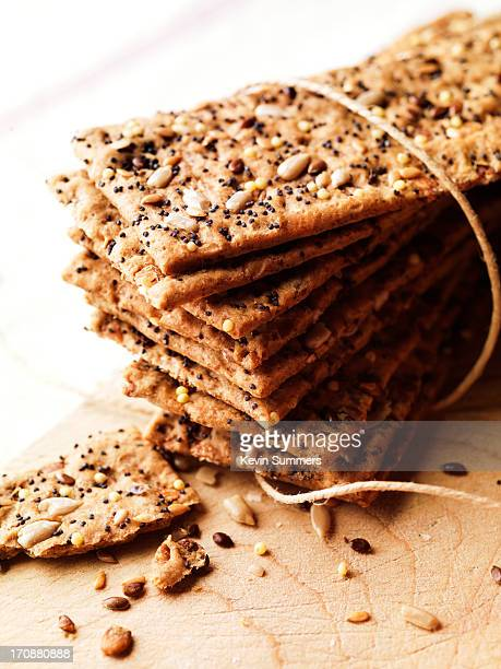 Seeded crisp bread