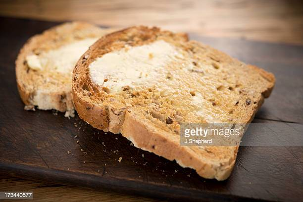 Seeded wholemeal buttered toast