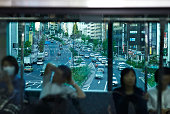 seeing city scenery through the train window 02