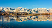 Sierra Nevada range in the reflection pool.