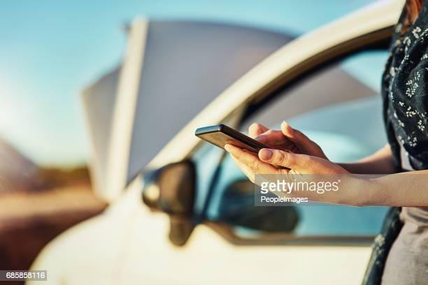 Seeking emergency roadside assistance