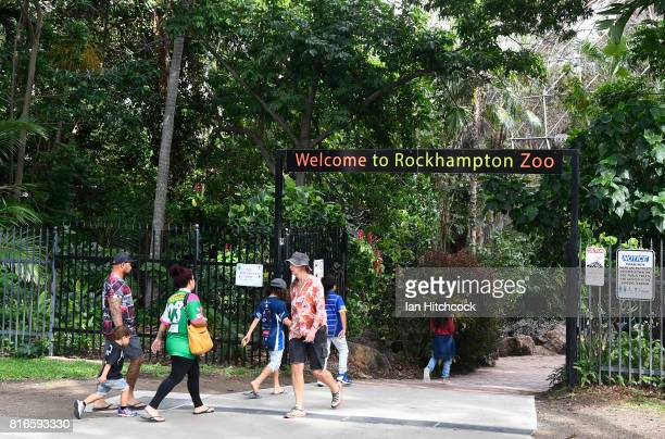Seen is an entrance to the Rockhampton Zoo on July 10 2017 in Rockhampton Australia