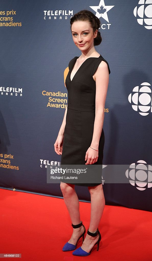 Seen on the red carpet prior to the event, Kacey Rohl actress from Working the Engels. The Canadian Screen Awards were held at the Four Season's Centre in Toronto. The awards honour the best of television and film.