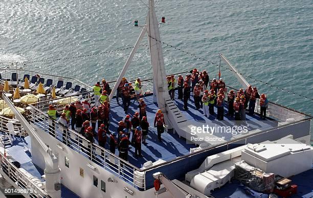 SeenotRettungsübung Kreuzfahrtschiff 'AIDAvita' Karibik Kreuzfahrt Schiff Deck Schwimmwesten Reise BB CD PNr 135/2007