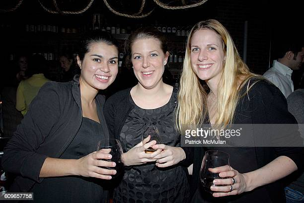Seetala Bell AmŽlie Bruzat and Pauline Richaud attend COUP de COEUR Celebrates the Holidays with Shopping and Cocktails at FELICE WINE BAR at FELICE...