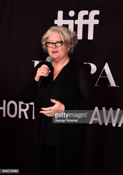 SeeThrough Films' Kathleen McInnis presents the firstever 'HFPA TIFF Short Film Award' at The Hollywood Foreign Press Association and InStyle's...