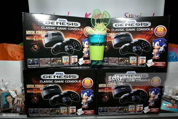 Sega Genesis on display at Z100's Jingle Ball 2015 Z100's Artist Gift Lounge at Madison Square Garden on December 11 2015 in New York City
