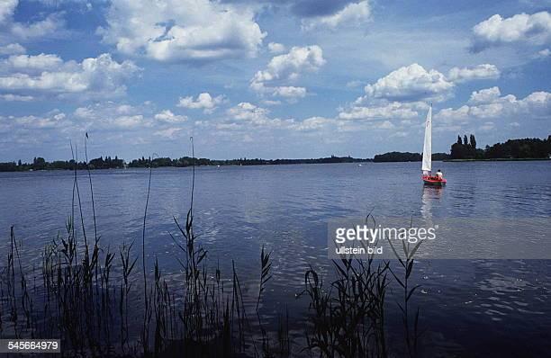 Segelboot auf dem Scharmützelsee Juni 1991