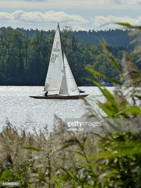 Segelboot auf dem Scharmutzelsee in Bad Saarow Landkreis Dahme Spree