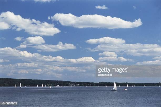 Segelboote auf dem Scharmützelsee 1997