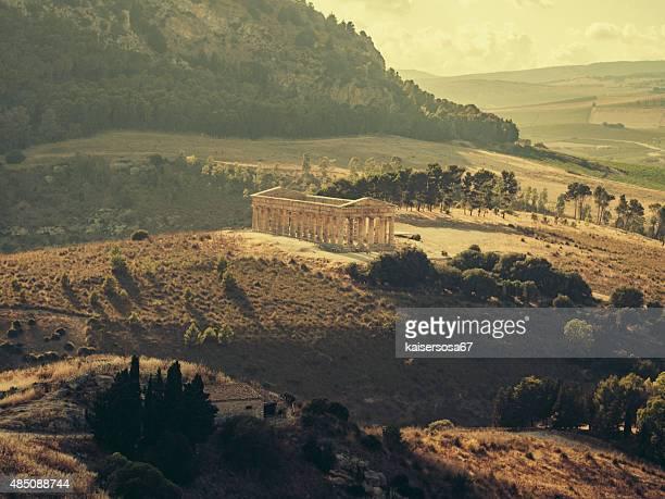 Segesta Greek temple in Sicily. Italy