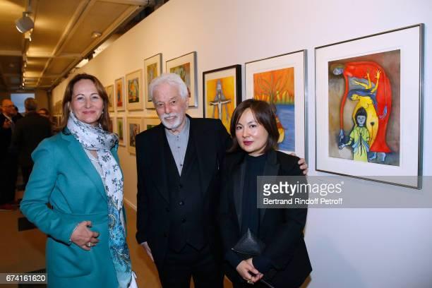 Segolene Royal Alejandron Jodorowsky and Pascale MontandonJodorowsky attend the 'pascALEjandro L'Androgyne Alchimique' Exhibition Opening at Azzedine...