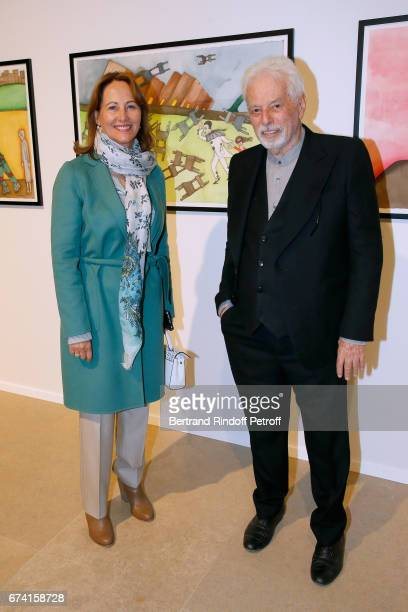 Segolene Royal and Alejandron Jodorowsky attend the 'pascALEjandro L'Androgyne Alchimique' Exhibition Opening at Azzedine Alaia Gallery on April 27...