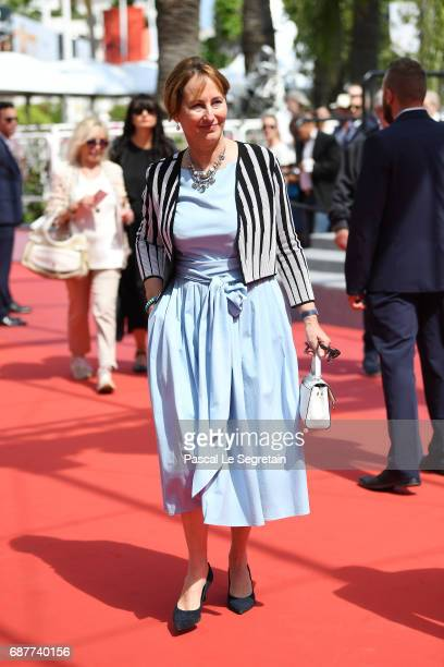 Segolene Royal attends the 'Rodin' screening during the 70th annual Cannes Film Festival at Palais des Festivals on May 24 2017 in Cannes France