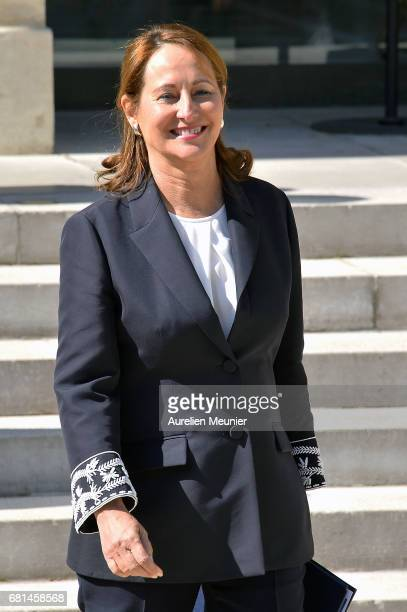 Segolene Royal French Minister of Ecology Sustainable Development and Energy leaves the Elysee Palace after French President Francois Hollande holds...