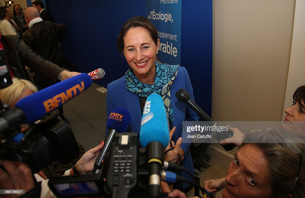 Segolene Royal, Minister of Ecology, Sustainable Development and Energy Gives A Press Conference On Wind Farms