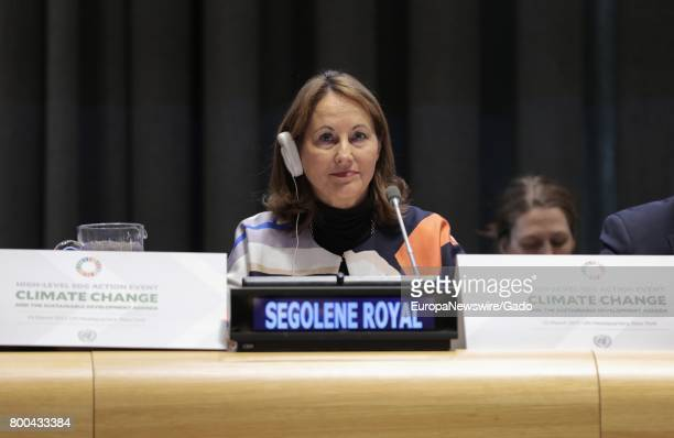 Segolene Royal Minister of the Environment Energy and the Sea of France at the United Nations March 23 2017