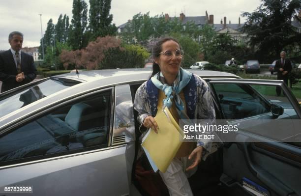 Segolene Royal ministre de l'Environnement au congres de France Nature Environnement le 9 mai 1992 a Nantes France