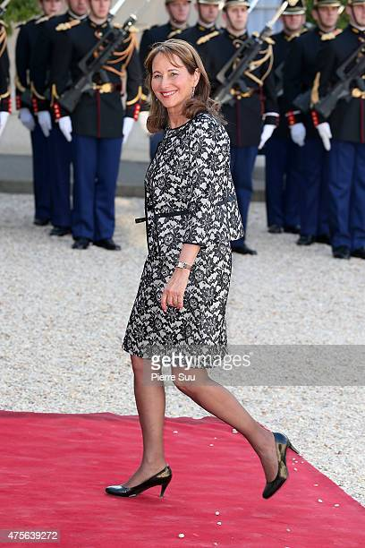 Segolene Royale attends a state dinner in Honnor of King Felipe VI and Queen Letizia of Spain at the Elysee Palace on June 2 2015 in Paris France