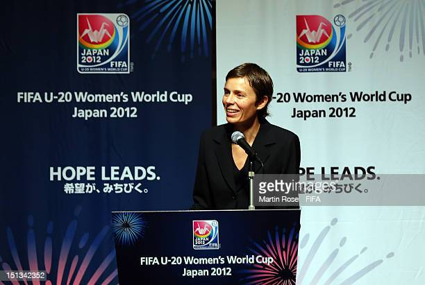 Segolene Valentinehead sof media speaks during the FIFA Banquet of the FIFA U20 Women's World Cup Japan 2012 at the Conrad Hotel on September 6 2012...