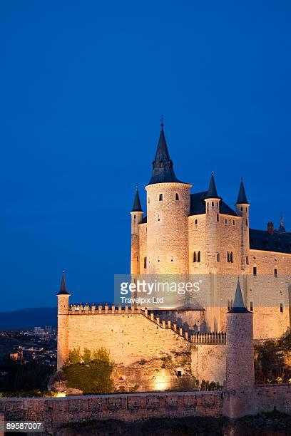 Segovia castle Illuminated