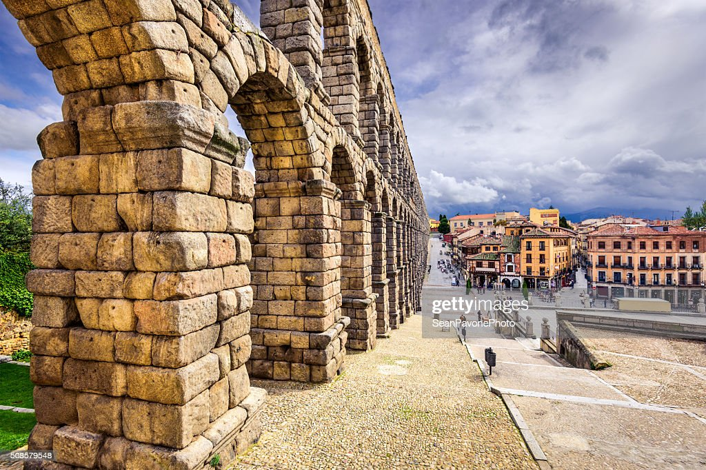 Segovia, Spain Aqueduct : Stock Photo