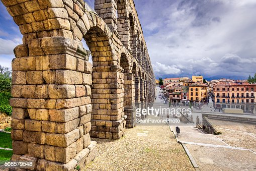 Segovia, Spanien Aqueduct : Stock-Foto