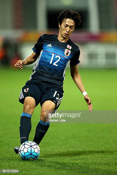 Sei Muroya of Japan in action during the AFC U23 Championship semi final match between Japan and Iraq at the Abdullah Bin Khalifa Stadium on January...