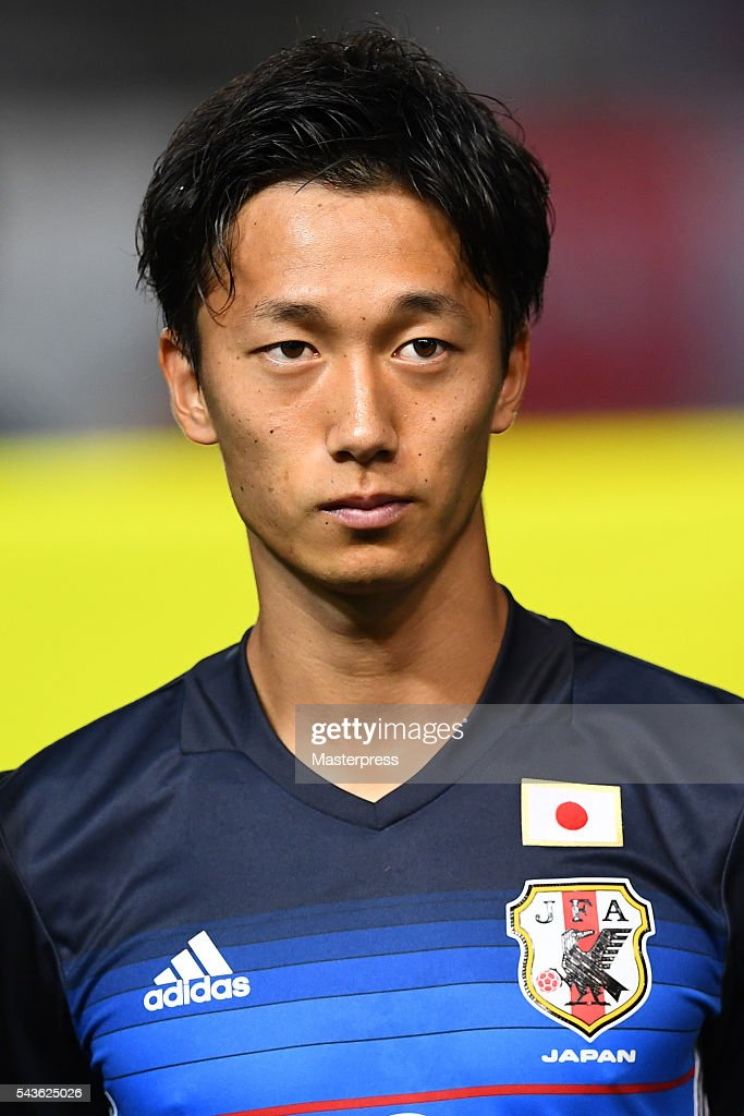 Sei Muroya of Japan looks on prior to the U-23 international friendly match between Japan v South Africa at the Matsumotodaira Football Stadium on June 29, 2016 in Matsumoto, Nagano, Japan.