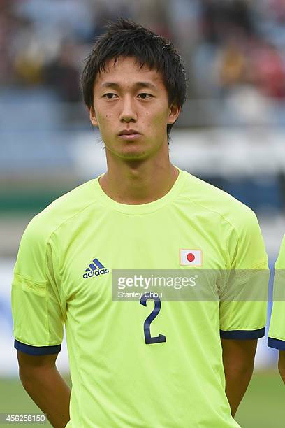 Sei Muroya of Japan poses during the Football Mens Quarter final match between South Korea and Japan at the Munhak Stadium during day nine of the...