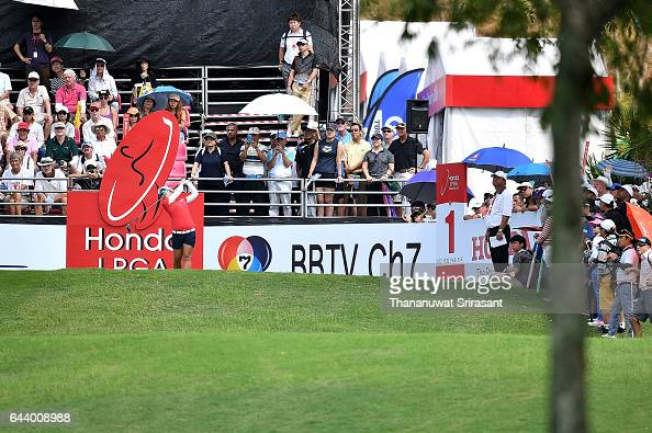 Sei Young Kim of Republic of Korea plays a shot during round one of the Honda LPGA Thailand at Siam Country Club on February 23 2017 in Chonburi...