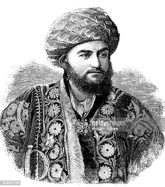 Seidabdulachatkhan abd alahad emir of bukhara historical illustration circa 1893