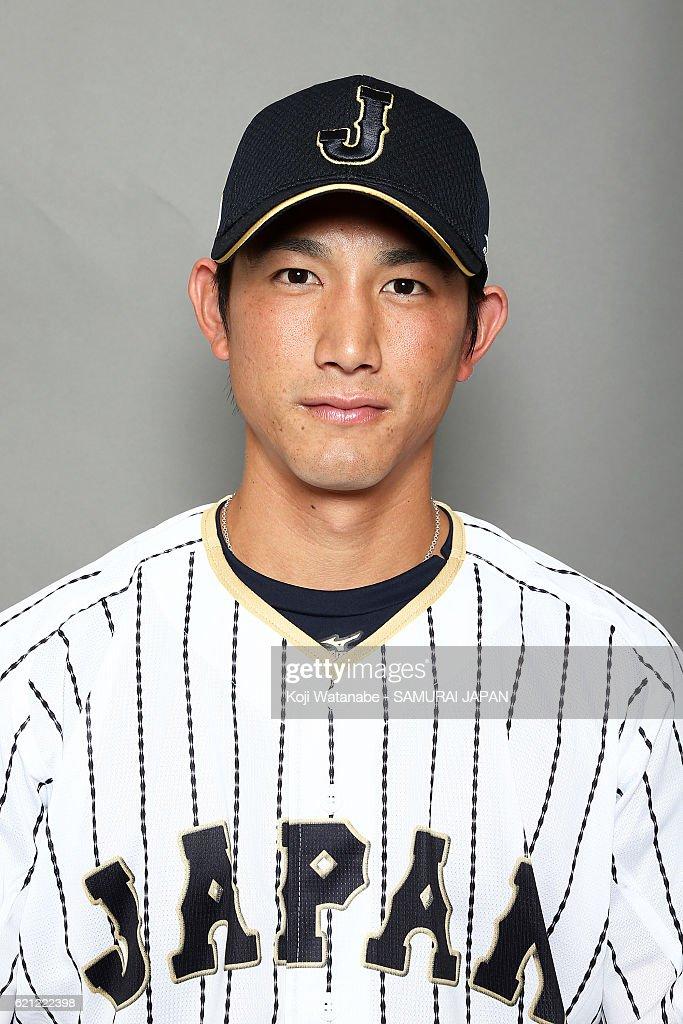 Seiji Kobayashi #22 of Japan poses for photographs during the Japan national baseball team portrait session on November 5, 2016 in Tokyo, Japan.