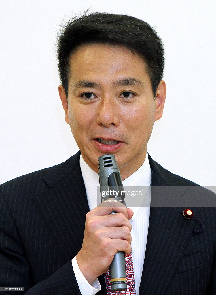 Seiji Maehara, Japan's former foreign minister, speaks during a meeting with lawmakers from his group in Tokyo, Japan, on Tuesday, Aug. 23, 2011. Maehara announced he will enter the race to succeed Prime Minister Naoto Kan, who said today he may resign in three days. Photographer: Haruyoshi Yamaguchi/Bloomberg via Getty Images