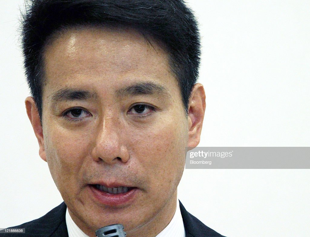 Seiji Maehara Japan's former foreign minister speaks during a meeting with lawmakers from his group in Tokyo Japan on Tuesday Aug 23 2011 Maehara...