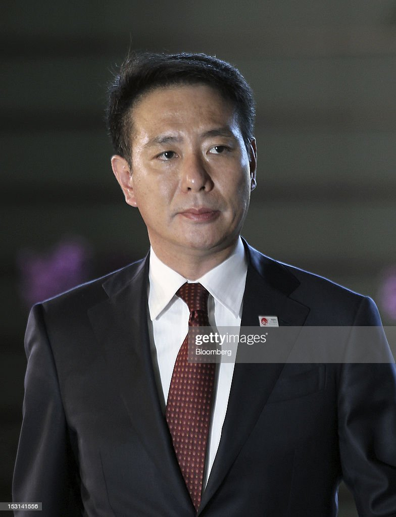 Seiji Maehara Japan's newly appointed minister of national strategy and economy arrives at the prime minister's official residence in Tokyo Japan on...